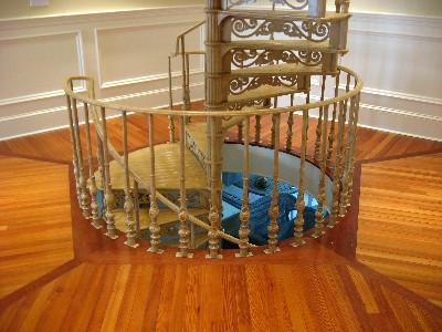 This existing historical cast iron staircase was completely restored